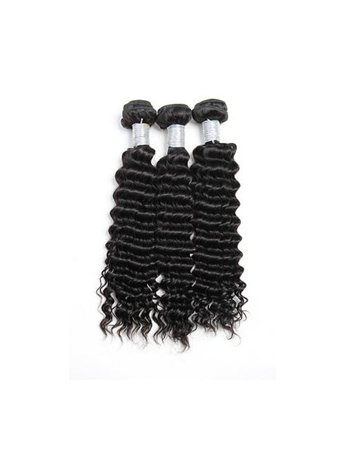 """Lot de 3 pièces mèches péruviennes tissage deep curly 24"""""""