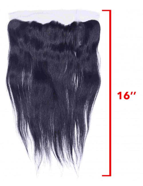 "Mèches péruviennes lace frontal lisse 16"""