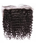 Mèches indiennes lace frontal bouclée Deep Curly 12""