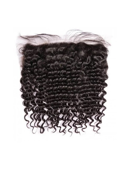 """Mèches indiennes lace frontal bouclée Deep Curly 14"""""""