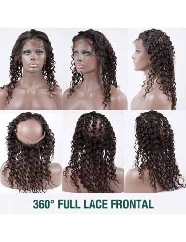 """Lace 360° bouclé Deep Curly péruvien 12"""""""