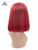Perruque Lisse Rouge Lace 12 pouces