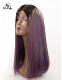 Perruque Lisse Violet Closure 4*4 16 pouces