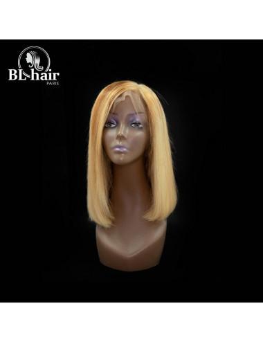 Perruque Lisse Blond Frontal 12 pouces