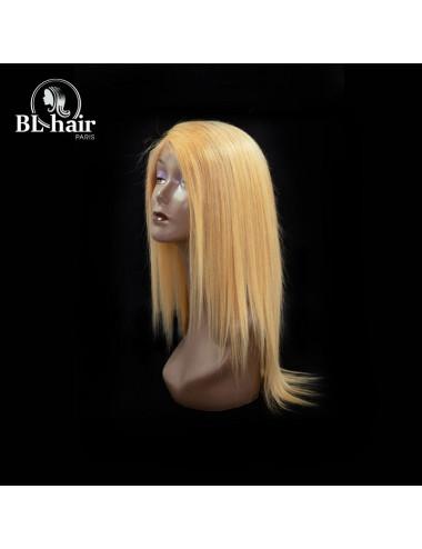 Perruque Lisse Blond Lace Frontal 360° 16 pouces