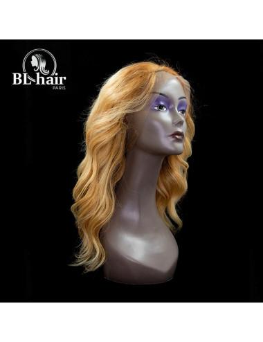 Perruque Ondulée blond 18 pouces Lace Frontal