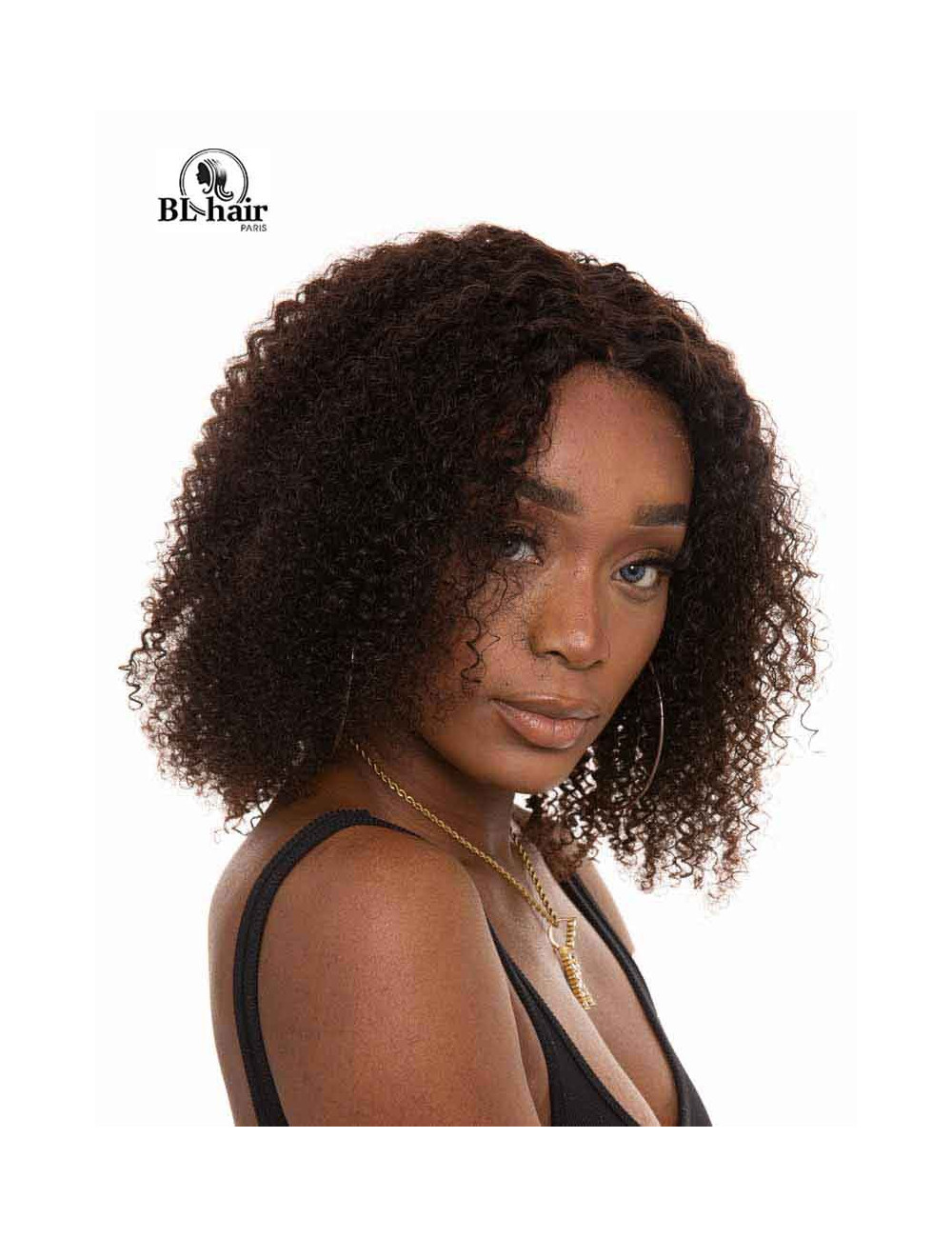 Perruque Kincky Afro 12 pouces Closure 4*4