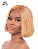 Perruque Lisse 12 pouces blond Closure 4*4