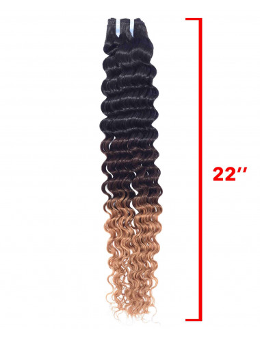 """Mèches malaisiennes tie and dye deep wave 22"""""""