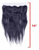 """Mèches brésiliennes lace frontal lisse 14"""""""