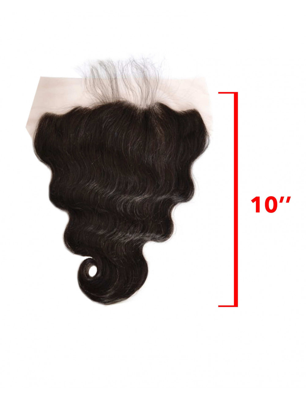 Mèches indiennes lace frontal ondulée 10""