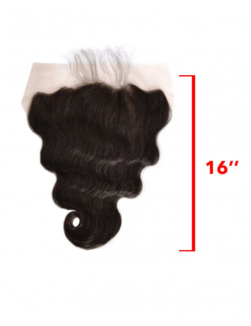 Mèches chinoises lace frontal ondulé 16""