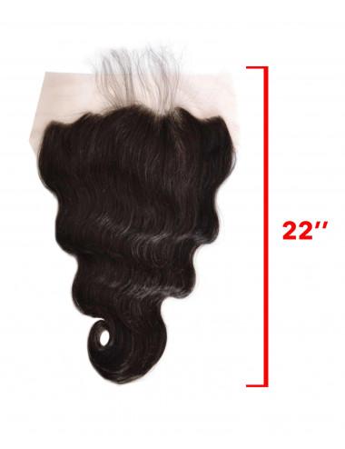 """Mèches malaisiennes lace frontal ondulé 22"""""""