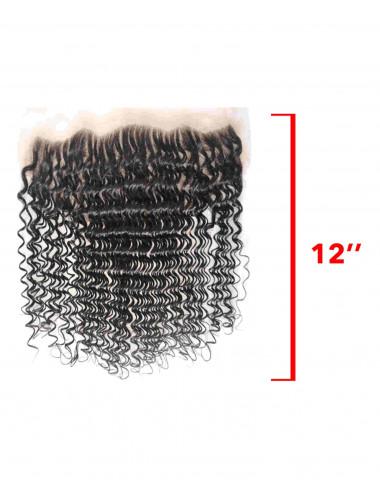 "Mèches Chinoises Lace Frontal Bouclé Deep Wave 12"""