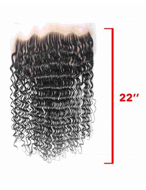 """Mèches Malaisiennes Lace Frontal Bouclé Deep Wave 22"""""""