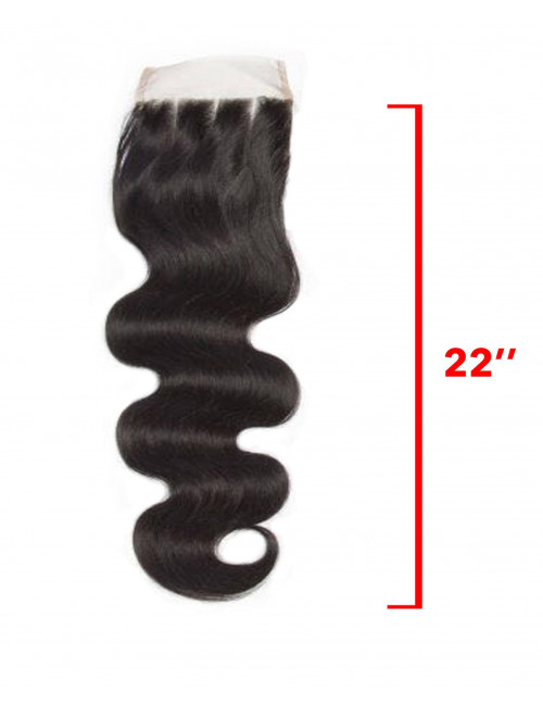Mèches Chinoises Closure Ondulée 3 Raies 22""